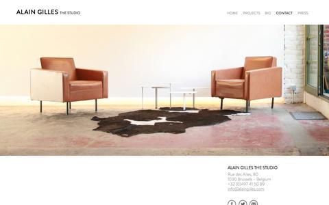 Screenshot of Contact Page alaingilles.com - CONTACT   Alain Gilles - captured Nov. 2, 2014