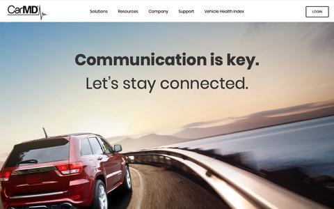 Screenshot of Home Page carmd.com - CarMD – For the Life of Your Car - captured Nov. 8, 2018