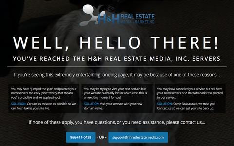Screenshot of Home Page emeralddunesrealestate.com - H&H Real Estate Media - captured Jan. 28, 2016