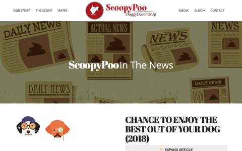 Screenshot of Press Page scoopypoo.net - Media | Scoopy Poo Doggie Doo Pickup Service - captured Oct. 9, 2018