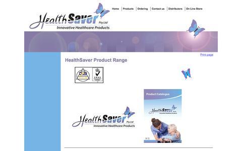 Screenshot of Products Page healthsaver.com.au - Products range - captured Sept. 29, 2014