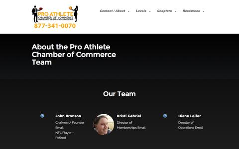 Screenshot of About Page paccchamber.com - About Us - Pro Athlete Chamber of Commerce - captured Nov. 2, 2014