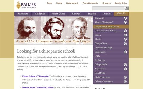 A List of U.S. Chiropractic Schools and Their Origins
