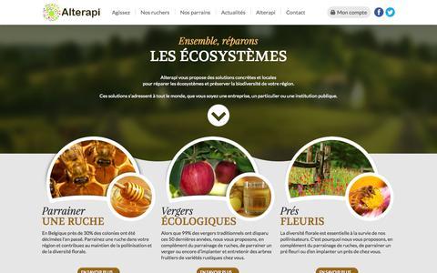Screenshot of Home Page alterapi.be - Biodiversité : agissons pour son maintien - captured Sept. 30, 2014