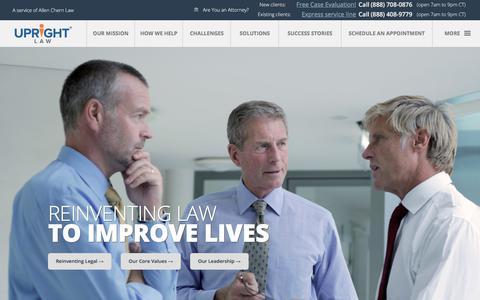 Screenshot of Team Page uprightlaw.com - Company - captured June 21, 2017