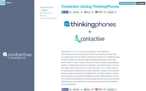 Screenshot of Blog contactive.com - Contactive - captured Aug. 29, 2015