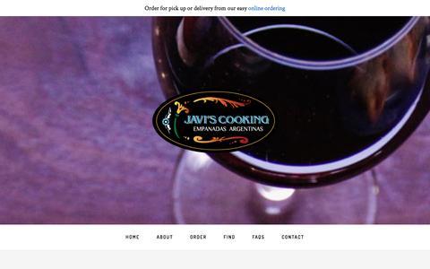 Screenshot of About Page javiscooking.com - About Javi - Javi's Cooking - captured Jan. 31, 2016