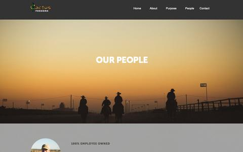 Screenshot of Team Page cactusfeeders.com - People - captured Oct. 19, 2018