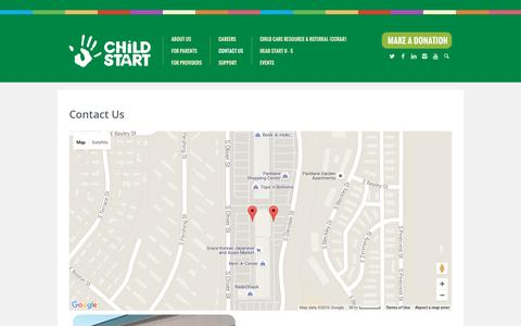 Screenshot of Contact Page childstart.org - Contact Us | Child Start - captured July 13, 2016