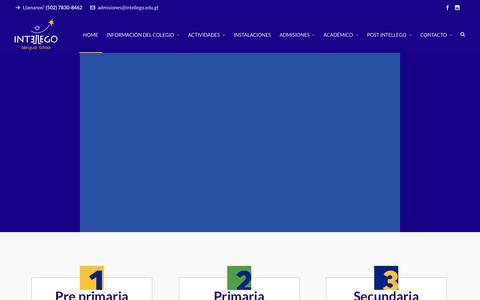 "Screenshot of Home Page intellego.edu.gt - Colegio Intellego ""Intellego Bilingual School"" - captured Oct. 12, 2018"