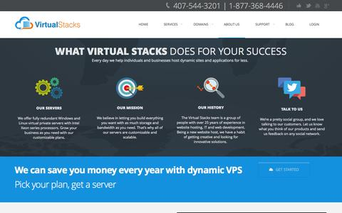 Screenshot of About Page virtualstacks.com - About Virtual Stacks - Orlando Web Hosting Provider | Private & Dedicated Servers | Web & SEO Services - captured Nov. 4, 2014