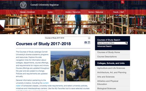 Cornell University - Acalog ACMS™