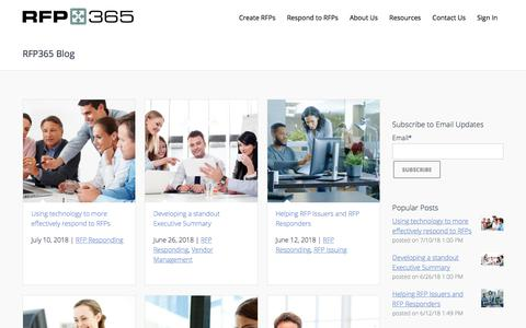 Screenshot of Blog rfp365.com - RFP365 Blog - captured July 18, 2018
