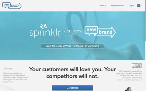 Screenshot of Products Page newbrandanalytics.com - Predictive Analytics Software, Social Listening | NewBrand - captured July 3, 2015