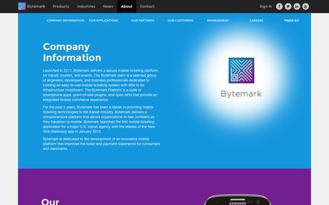 Screenshot of About Page bytemark.co - About - Bytemark, Inc. :: Bytemark, Inc. - captured Sept. 23, 2014