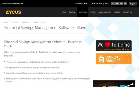 Financial Savings Management Software   Zycus