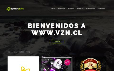 Screenshot of Home Page vzn.cl - VZN l EMPRESA DE DISEÑO GRÁFICO EN CHIMBARONGO | - captured June 17, 2015