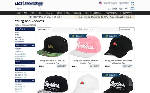 Young And Reckless Hats, Caps, Apparel, Clothing | lids.com