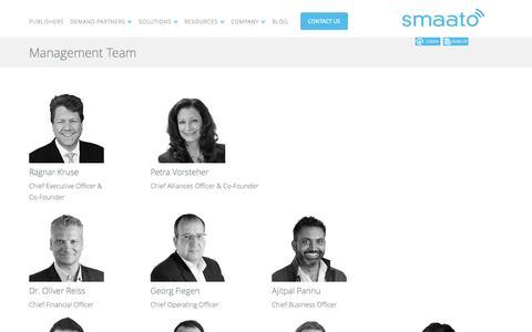 Screenshot of Team Page smaato.com - Smaato Management Team - captured Sept. 17, 2014