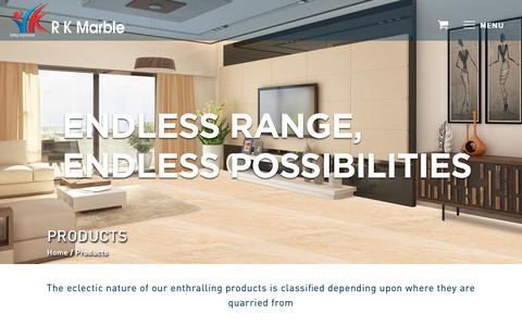 Screenshot of Products Page rkmarble.com - Our Products Range | R K Marble Products – Marble Company - captured Oct. 18, 2018