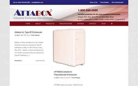Screenshot of Blog attabox.com - BLOG - Attabox Polycarbonate Enclosures - captured Feb. 6, 2016