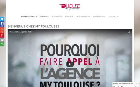 Screenshot of Home Page agence-mytoulouse.com - Agence immobilière My Toulouse - Croix de Pierre - Saint Cyprien - captured May 31, 2017