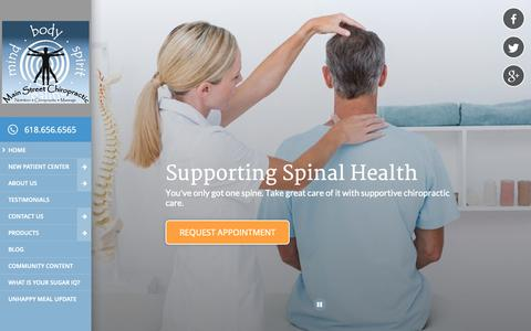 Screenshot of Home Page docbaird.com - Main Street Chiropractic - Chiropractor in Edwardsville, IL USA - captured Oct. 2, 2018