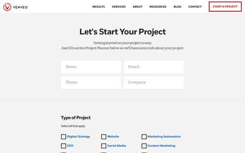 Start a Project - Venveo
