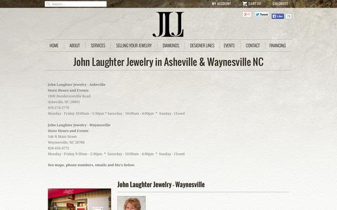 Screenshot of Contact Page Locations Page johnljewelry.com - Locations                           | John Laughter Jewelry - captured Oct. 23, 2014