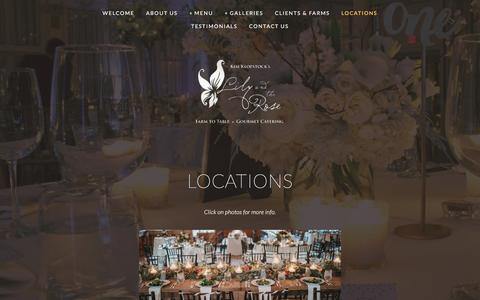 Screenshot of Locations Page lilyandtherose.com - Locations — - captured Sept. 27, 2016