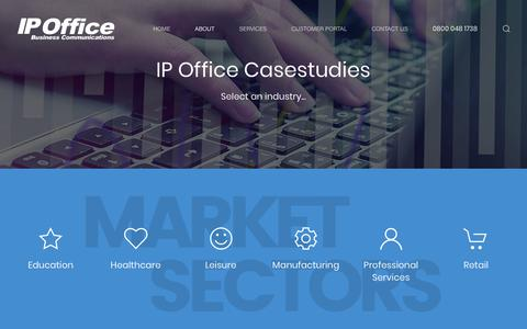 Screenshot of Case Studies Page ipofficegroup.co.uk - Case Studies - captured Oct. 2, 2018