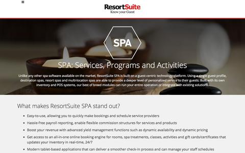 Spa and Activity Software for Hotels and Resorts | ResortSuite
