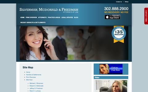 Screenshot of Site Map Page smflegal.com - Sitemap - captured Oct. 26, 2014
