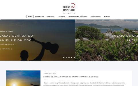 Screenshot of Blog juliotrindade.com.br - Melhores fotógrafos de Casamentos Brasil - Florianópolis - captured Feb. 22, 2018