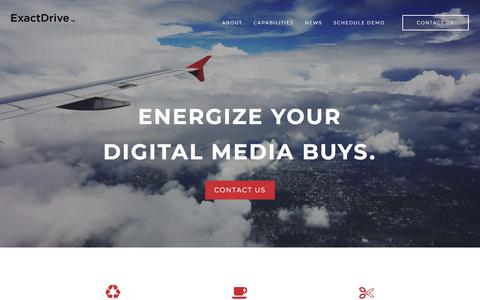 Screenshot of Home Page exactdrive.com - Digital Media Buying & Planning Agency | Programmatic Advertising - captured Sept. 19, 2018