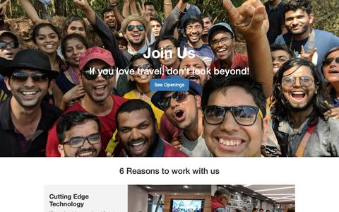 Screenshot of Jobs Page goibibo.com - ibibo Group- Career at ibibo - captured March 25, 2019