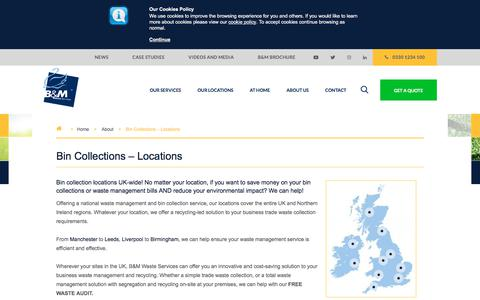 Screenshot of Locations Page bagnallandmorris.com - Waste Management & Collection Locations | B&M Waste Services - captured July 28, 2019
