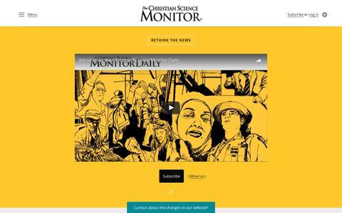 Screenshot of Home Page csmonitor.com - The Christian Science Monitor - CSMonitor.com - captured June 19, 2017