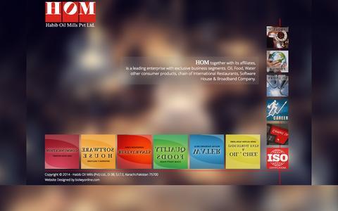 Screenshot of Home Page hom.com.pk - Welcome to Habib Oil Mills (Pvt) Ltd. - captured Sept. 13, 2015