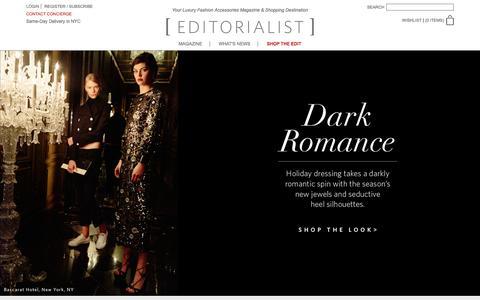 Screenshot of Home Page editorialist.com - Editorialist | Luxury Fashion Accessories Magazine & Online Store - captured Dec. 15, 2015