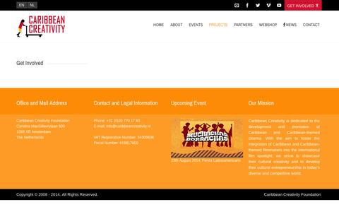 Screenshot of Services Page caribbeancreativity.nl - Services  Caribbean Creativity - captured Sept. 27, 2014