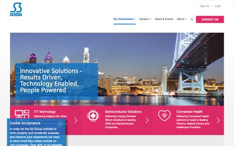 Screenshot of Home Page s3group.com - Connected Consumer Technology Company | S3 Group - captured Oct. 1, 2015