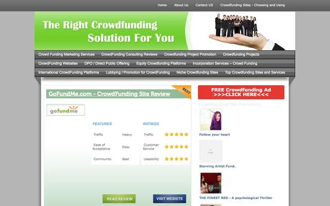 Screenshot of Home Page crowdfunding-website-reviews.com - Crowdfunding  Website Reviews - captured Sept. 18, 2014