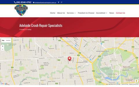 Screenshot of Contact Page wellandcrashrepairs.com.au - Contact Us - Crash Repair Adelaide - captured Jan. 13, 2016