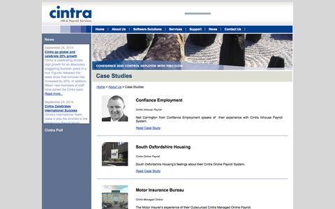 Screenshot of Case Studies Page cintra.co.uk - Case Studies «  Cintra HR & Payroll Services - captured Oct. 2, 2014
