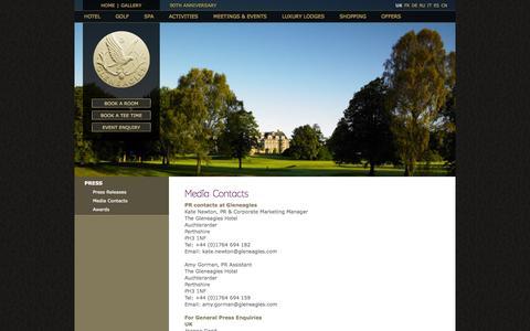 Screenshot of Press Page gleneagles.com - Press - Gleneagles - captured Oct. 30, 2014