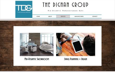 Screenshot of Services Page thedignangroup.com - The Dignan Group | SERVICES - captured Dec. 14, 2016