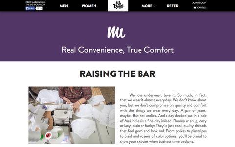 Screenshot of About Page meundies.com - MeUndies  - World's Most Comfortable Underwear, Socks, and T-Shirts - MeUndies - captured Sept. 16, 2014