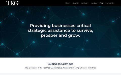 Screenshot of Home Page thekaufmangroupltd.com - The Kaufman Group | Healthcare | Automotive | Marine | Banking & Finance Industries. – Providing - captured Oct. 20, 2018