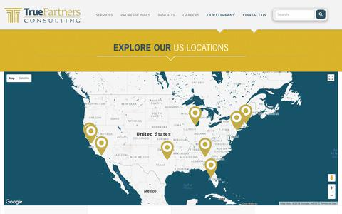 Screenshot of Locations Page tpctax.com - Locations | True Partners Consulting - captured June 27, 2018